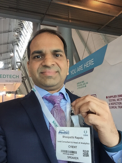 Bhoopathi Rapolu at Medtec Europe 2016
