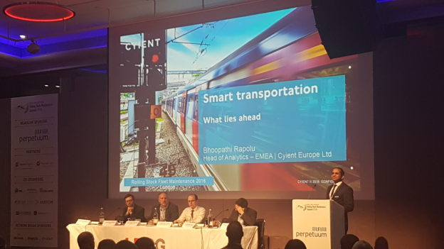 Speaking at a Rail Conference in London, UK.